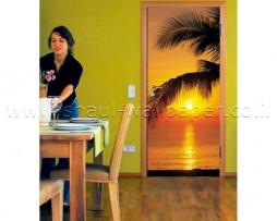 תמונת טפט לדלת שקיעה בחוף