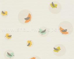 טפט לילדים ציפורים מצוירות