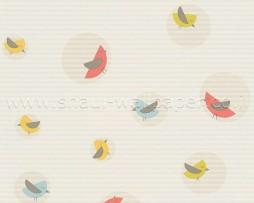 טפט לילדים ציפורים ברקע פסים