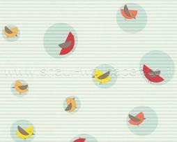 טפט ציפורים מצויירות