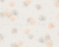 טפט לקיר פרחים עם נצנצים עדינים