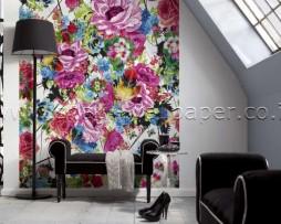 תמונת טפט פרחים צבעוניים מצויירים