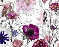 תמונת טפט לקיר פרחים סגולים