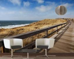 תמונת טפט תלת מימד גשר בחוף ים