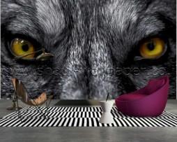 תמונת טפט תלת מימד עיני זאב
