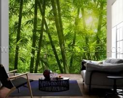 תמונת טפט תלת מימד יער במבוק