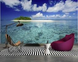 תמונת טפט תלת מימד אי באוקיינוס המזרחי