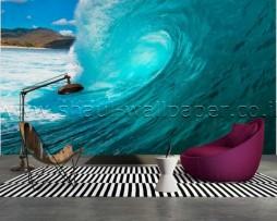 תמונת טפט תלת מימד גל ענק בים