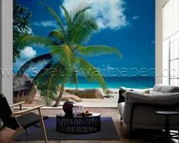 תמונת טפט תלת מימד חוף באי בודד