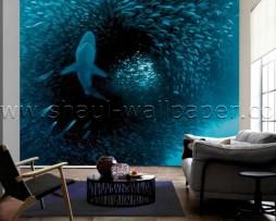 תמונת טפט תלת מימד ציד כרישים