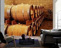 תמונת טפט תלת מימד מרתף יינות