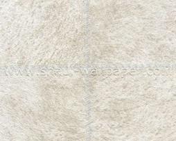 טפט לקיר דמוי עור מרובעים בגוון קרם בהיר