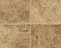 טפט לקיר דמוי עור מרובעים בגוון חום