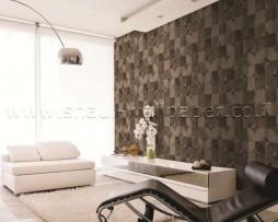 טפט לקיר פרווה מרובעים בגוון קרם בהיר