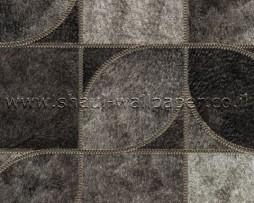 טפט לקיר פרווה מרובעים בגוון אפור כהה