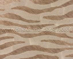 טפט לקיר דמוי עור זברה בגווני חום זהב