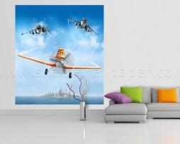 תמונת קיר דיסני מטוסים מעל אי