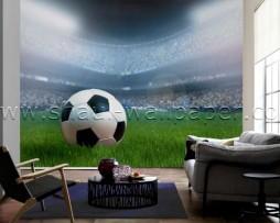 תמונת טפט תלת מימד מגרש כדורגל