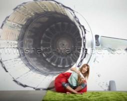 תמונת טפט תלת מימד מנוע סילון
