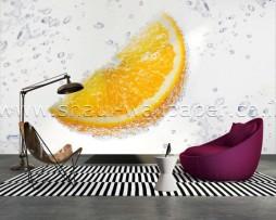 תמונת טפט תלת מימד תפוז תוסס