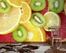 תמונת טפט תלת מימד מיקס פירות