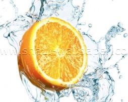 תמונת טפט תלת מימד תפוז במים