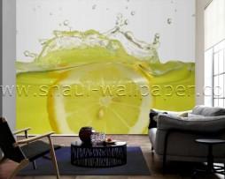 תמונת טפט תלת מימד לימון במים