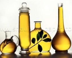 תמונת טפט תלת מימד בקבוקי שמן