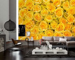 תמונת טפט תלת מימד ורדים צהובים