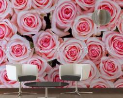 תמונת טפט תלת מימד ורדים ורודים
