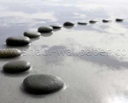 תמונת טפט תלת מימד אבנים במעגל