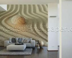 תמונת טפט תלת מימד אבן זוהרת בחול
