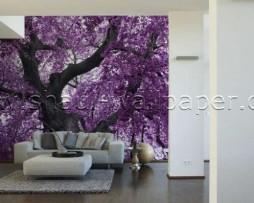 תמונת טפט תלת מימד עץ סגול