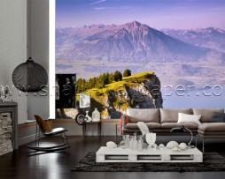 תמונת טפט תלת מימד נוף מקצה ההר