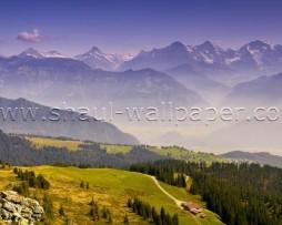 תמונת טפט תלת מימד נוף הררי