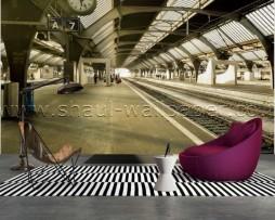 תמונת טפט תלת מימד תחנת רכבת