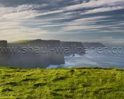 תמונת טפט תלת מימד חוף ירוק