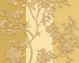 טפט לקיר פרחים זהובים בפסי ווש