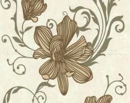 טפט לקיר פרחים ברונזה ועלי כותרת