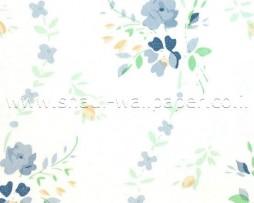 טפטים לארונות, טפט לארון פרחים כחולים עדינים