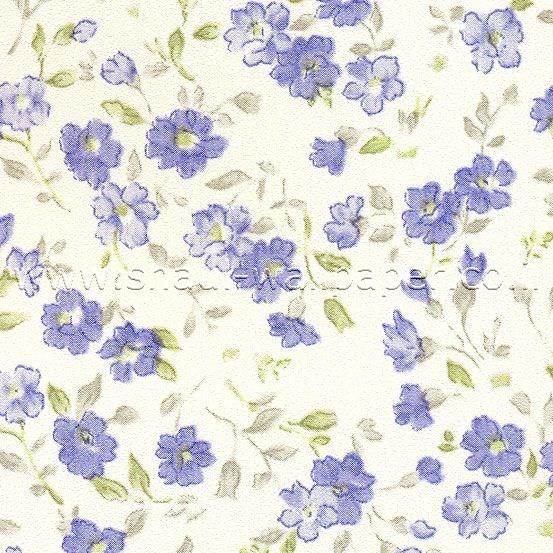 טפטים לארונות, טפט פרחים עדינים כחולים