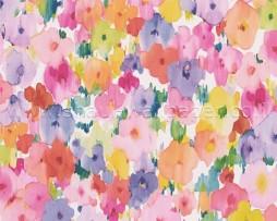טפט ציורי פרחים צבעוניים