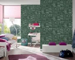 טפט לקיר כיתובים על לוח ירוק