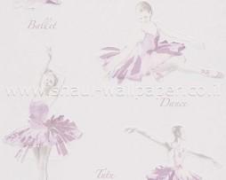 טפט רקדניות בגווני ורוד עדין