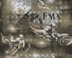 טפט לנוער אופנועים שחור לבן