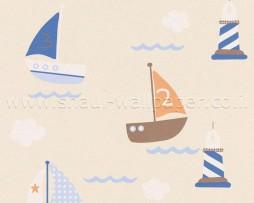 טפט לילדים סירות ומגדלור