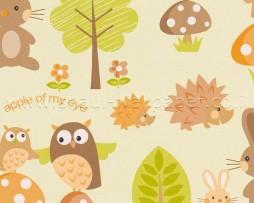 טפט לילדים חיות השדה וכתוביות