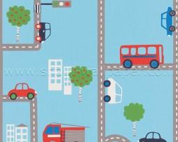 טפט לילדים מכוניות ואוטובוסים