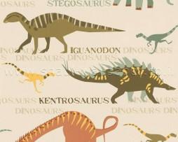 טפט לקיר דינוזאורים
