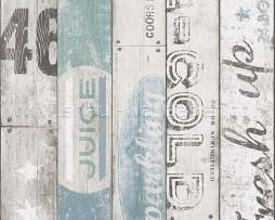 טפט לקיר גרפיטי על לוחות עץ